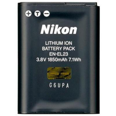 Nikon batterij: EN-EL23 - Zwart