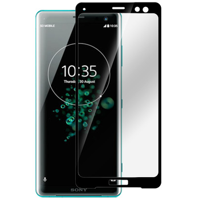 ESTUFF Sony Xperia XZ3 Curved Black Screen protector - Zwart, Transparant