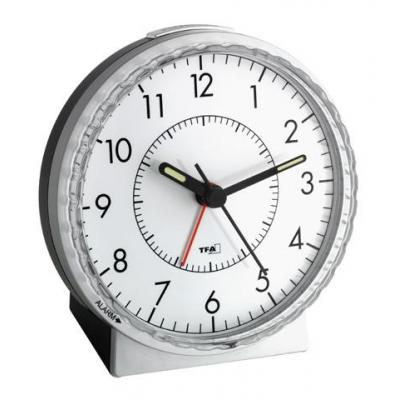 Tfa wekker: 60.1010 - electronic alarm clock - Zwart, Zilver