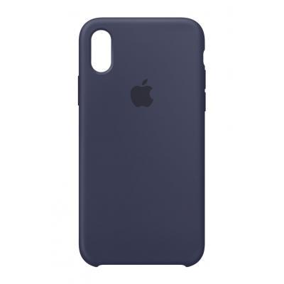 Apple mobile phone case: Siliconenhoesje voor iPhone X - Middernachtblauw