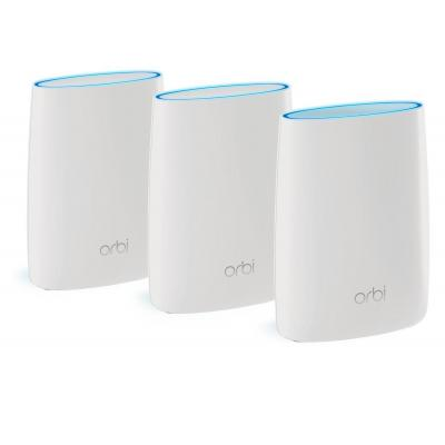 Netgear wireless router: Orbi RBK53 Tri-Band AC3000 Mesh Starter Kit (3-Pack) - Wit