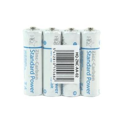 Hq batterij: Zinc-Carbon 4x AA 1.5V - Wit