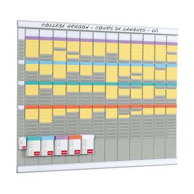 Nobo planningsysteem: T-Kaart Planningset Jaarplanner 13 Kolommen 32 Sleuven - Wit