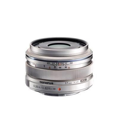 Olympus camera lens: M.ZUIKO DIGITAL 17mm 1:1.8 - Zilver