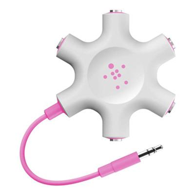 Belkin RockStar, 3.5mm, voor iPod & MP3 Kabel adapter - Roze, Wit