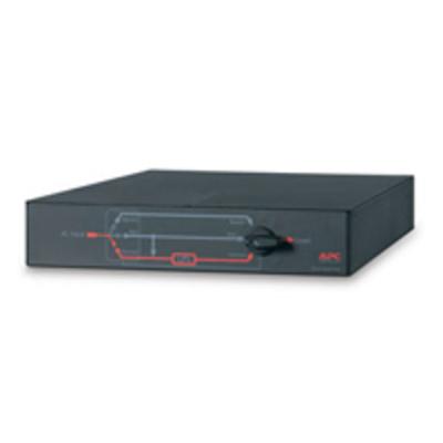 APC Service Bypass Panel- 100-240V; 30A; BBM; Hardwire Input/Output Power supply unit - Zwart