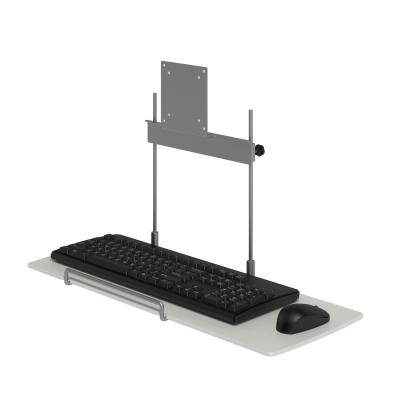 Dataflex accesoire: Viewmate toetsenbord-muisplatform - optie 582 - Zilver