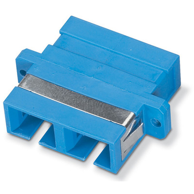 Black Box SC–SC, Rectangular Mounting, Multimode, Duplex, Bronze Sleeve, Plastic Flange Fiber optic adapter .....
