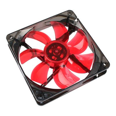 Cooltek Silent Fan 120 Red LED Hardware koeling - Zwart, Rood