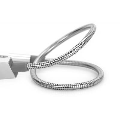 Verbatim Micro USB Sync & Charge Cable 30 cm, Silver USB kabel - Roestvrijstaal
