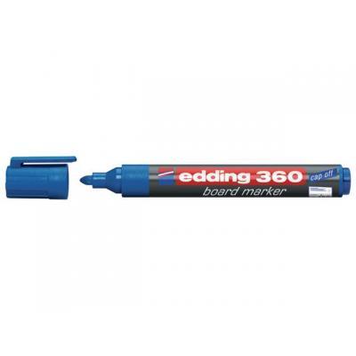 Edding markeerstift: Marker 360 DryWipe blauw/doos 10
