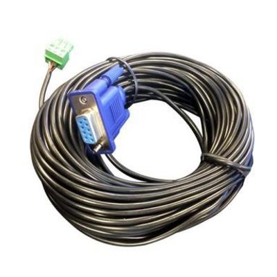 VivoLink VLCPARS232/25M Seriele kabel - Zwart