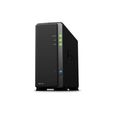 Synology NAS: Dual Core 1.8 GHz, 32-bit, 1 GB DDR3, SATA, EXT4, USB 3.0, 166 x 71 x 224 mm, 0.7 kg - Zwart