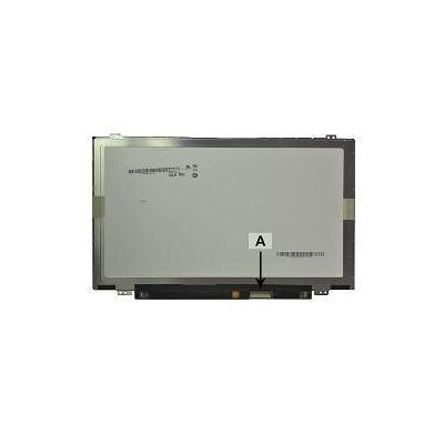 "2-power notebook reserve-onderdeel: 35.56 cm (14.0 "") 1366x768 HD+ LED Glossy - Zwart, Grijs"