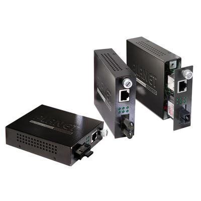 PLANET 10/100Base-TX to 100Base-FX (SC, SM) Smart-15km Media converter - Zwart