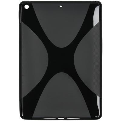 CP-CASES X-line Backcover iPad 10.2 (2019 / 2020) - Zwart - Zwart / Black Tablet case