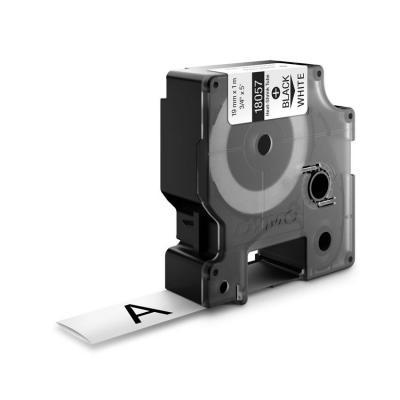 Dymo labelprinter tape: 19mm RhinoPRO Heat shrink tubes - Zwart op wit