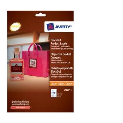 Avery BlockOut Product Labels Etiket - Wit