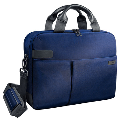 "Leitz Complete 13.3"" Smart, 630 g, Titanium blauw Laptoptas - Zwart, Blauw"