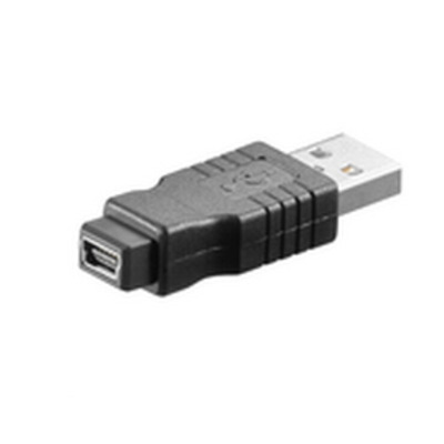 Microconnect USB A- Mini USB B 5pin M-F Kabel adapter - Zwart