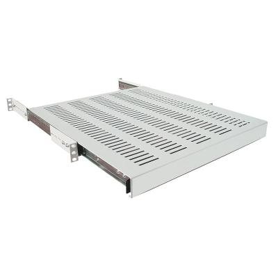 "LogiLink 19"" Sliding Shelf d=600mm, grey Rack toebehoren - Grijs"