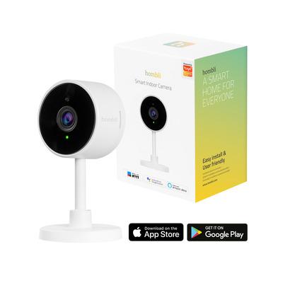 Hombli Smart Indoor Camera Beveiligingscamera - Zwart, Wit