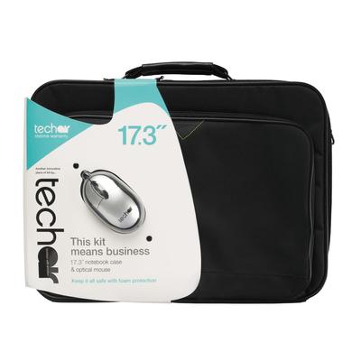 "Tech air 16 – 17.3"", briefcase, 600D Polyester, Black + 1000 DPI, USB mouse Laptoptas"