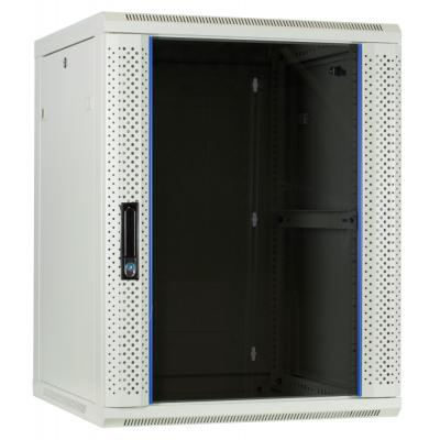 DS-IT 15U witte wandkast met glazen deur 600x600x770mm Rack