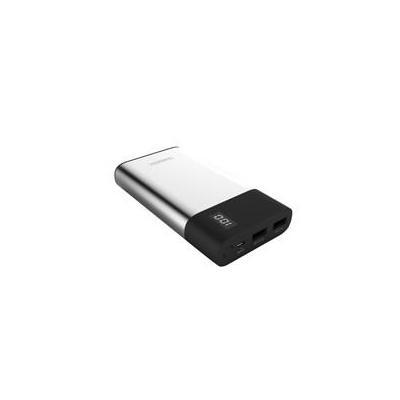 Terratec powerbank: P120 Slim - Zwart, Zilver
