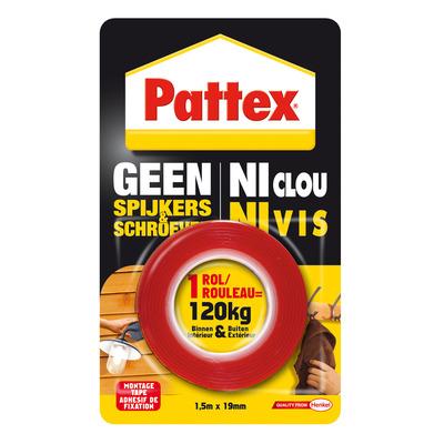 Pattex : Geen Spijkers en Schroeven Tape, 120 kg - Rood