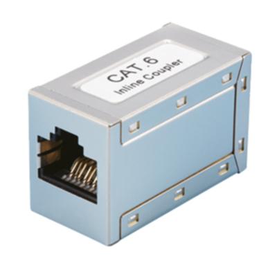 LogiLink NP0026 - Inline Coupler 1:1 Cat.6A RJ45 STP, metal housing Kabel adapter - Grijs