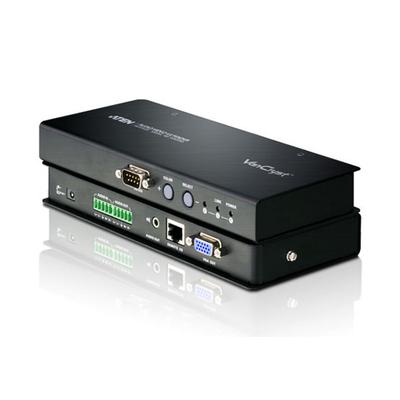 Aten RJ45 Video Receiv. Transmitter Up To 300 M + Balanced Audio AV extender - Zwart