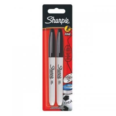 Sharpie marker: Permanent Marker, Black, x2 - Zwart, Zilver