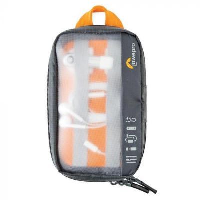 Lowepro GearUp Pouch Mini Apparatuurtas - Zwart, Oranje, Doorschijnend
