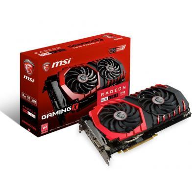 Msi videokaart: Radeon RX 480 GAMING X 8G - Zwart, Rood