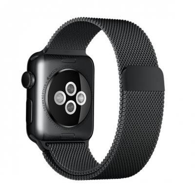 Apple : 38mm Space Black Milanese Loop - Zwart