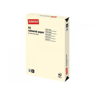 Staples papier: Papier SPLS A3 80g creme/pak 500v