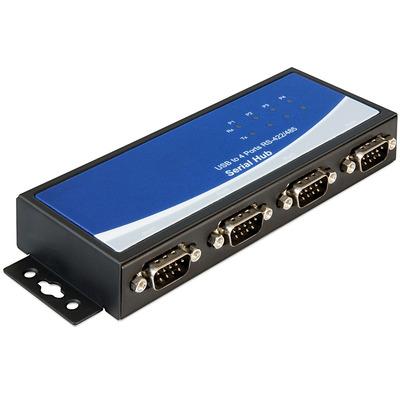 DeLOCK Adapter USB 2.0 to 4 x serial RS-422/485 Seriele converter/repeator/isolator - Zwart