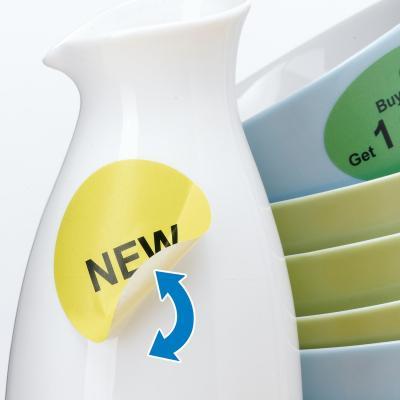 Herma etiket: Removable labels A4 Ø 85 mm round white Movables/removable paper matt 600 pcs. - Wit