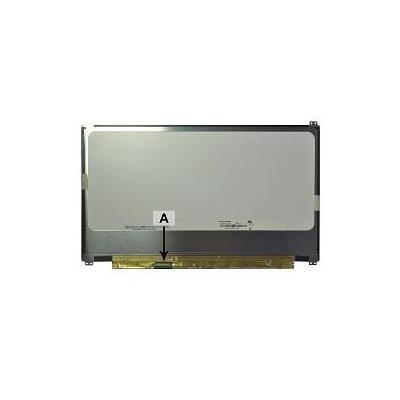 """2-power notebook reserve-onderdeel: 33.782 cm (13.3 """") 1920x1080 FullHD LED Matte - Zwart, Grijs, Geel"""