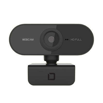 Dicota 1920 x 1080, Plug & Play, Autofocus, Digital Microphone, USB 2.0, Black Webcam - Zwart
