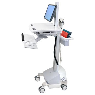 Ergotron StyleView EMR Cart with LCD Pivot, SLA Powered Multimedia kar & stand - Aluminium, Grijs, Wit