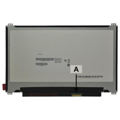 "2-power notebook reserve-onderdeel: 29.464 cm (11.6 "") 1366x768 HD+ LED Glossy - Zwart, Grijs"