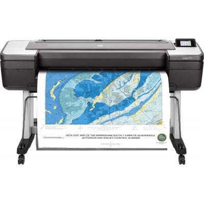 Hp grootformaat printer: Designjet DesignJet T1700dr 44-in - Cyaan, Grijs, Magenta, Mat Zwart, Foto zwart, Geel