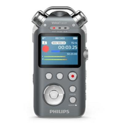 Philips DVT7500 Voice recorder - Antraciet, Chroom