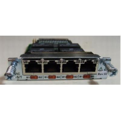 Cisco netwerkkaart: 4-Port ISDN BRI S/T High-Speed WAN Interface Card