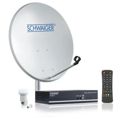 Schwaiger antenne: Satellite System (55 cm) - Grijs