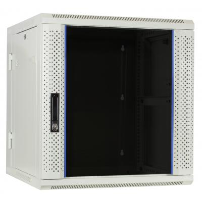 DS-IT 12U witte wandkast (kantelbaar) met glazen deur 600x600x635mm Rack