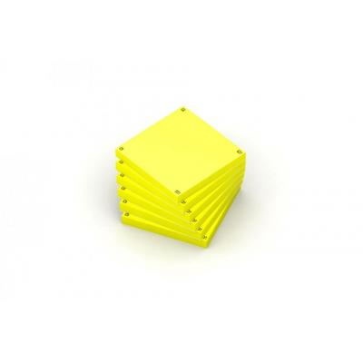 Oxford 7,5x7,5cm - Blanco - 80 vel/blok - SCRIBZEE Compatible - Geel - Pak 6 blokken Etiket