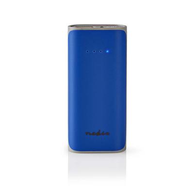 Nedis Power Bank, 5000 mAh, 1-USB-A output 1.0A, Micro USB input, Blue Powerbank - Blauw
